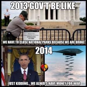 Govt shutdown meme